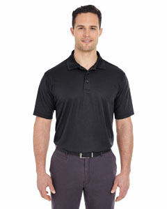 Black Men's Tall Cool & Dry Mesh Piqué Polo