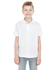 White Youth Cool & Dry Mesh Piqué Polo