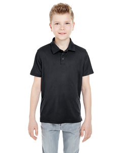 Black Youth Cool & Dry Mesh Piqué Polo