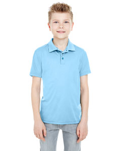 Columbia Blue Youth Cool & Dry Mesh Piqué Polo