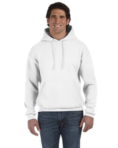 White 12 oz. Supercotton™ 70/30 Pullover Hood