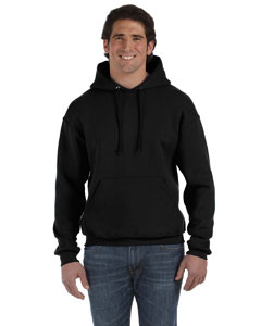 Black Adult 12 oz. Supercotton™ 70/30 Pullover Hood