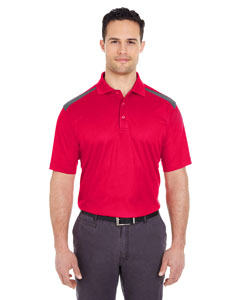 Red/ Charcoal Adult Cool & Dry 2-Tone Mesh Piqué Polo