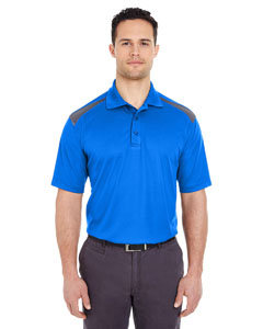 Royal/ Charcoal Adult Cool & Dry 2-Tone Mesh Piqué Polo