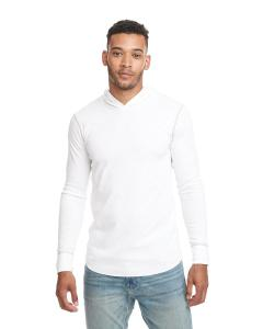 White/ Hthr Gray Adult Thermal Hoody