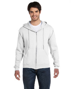 White Adult 12 oz. Supercotton™ 70/30 Full-Zip Hood