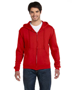 True Red 12 oz. Supercotton™ 70/30 Full-Zip Hood