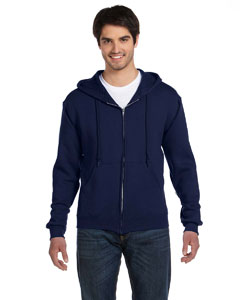 J Navy 12 oz. Supercotton™ 70/30 Full-Zip Hood