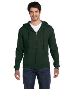 Forest Green Adult 12 oz. Supercotton™ 70/30 Full-Zip Hood
