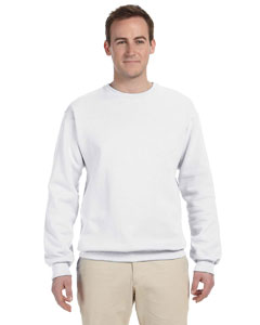 White Adult 12 oz. Supercotton™ 70/30 Fleece Crew