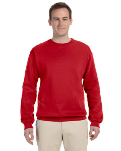 True Red Adult 12 oz. Supercotton™ 70/30 Fleece Crew