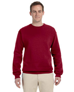 Maroon Adult 12 oz. Supercotton™ 70/30 Fleece Crew