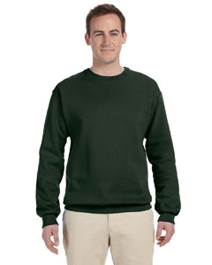 Forest Green Adult 12 oz. Supercotton™ 70/30 Fleece Crew