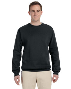 Black Adult 12 oz. Supercotton™ 70/30 Fleece Crew