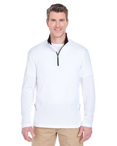 White Men's Cool & Dry Sport Quarter-Zip Pullover