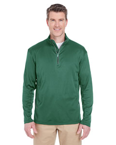 Forest Green Men's Cool & Dry Sport Quarter-Zip Pullover