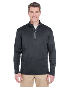 Black Men's Cool & Dry Sport Quarter-Zip Pullover