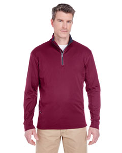 Maroon Men's Cool & Dry Sport Quarter-Zip Pullover