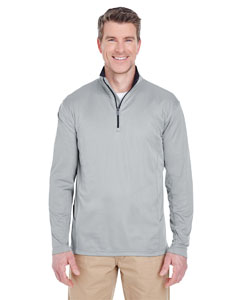 Grey Men's Cool & Dry Sport Quarter-Zip Pullover