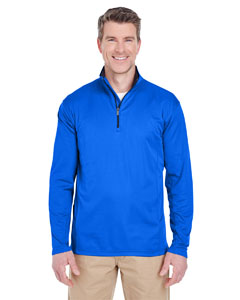 Kyanos Blue Men's Cool & Dry Sport Quarter-Zip Pullover