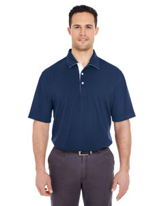 Navy/ White Men's Platinum Performance Birdseye Polo with TempControl Technology