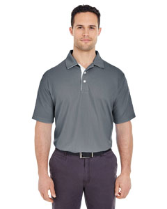 Charcoal/ White Men's Platinum Performance Birdseye Polo with TempControl Technology