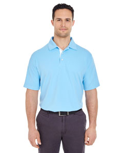 Colum Blue/ Wht Men's Platinum Performance Birdseye Polo with TempControl Technology