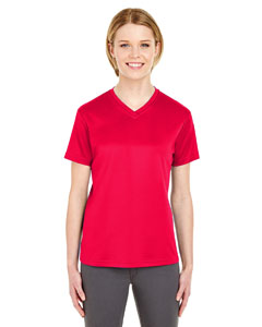 Red Ladies' Cool & Dry Sport V-Neck T-Shirt