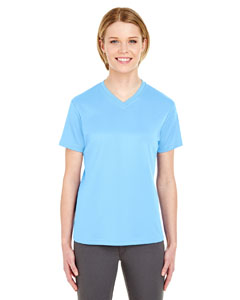Columbia Blue Ladies' Cool & Dry Sport V-Neck T-Shirt