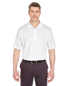 White Men's Tall Cool & Dry Sport Polo