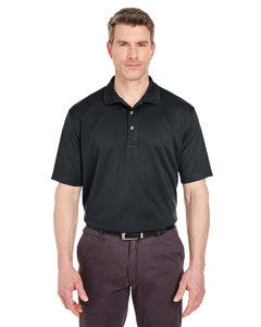 Black Men's Tall Cool & Dry Sport Polo