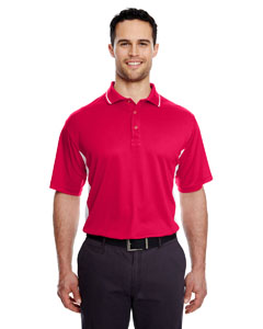 Red/ White Men's Cool & Dry Sport 2-Tone Polo