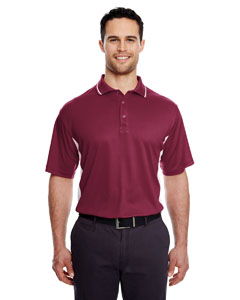Maroon/ White Men's Cool & Dry Sport 2-Tone Polo