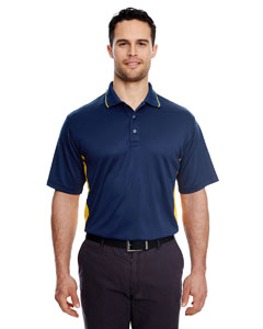 Navy/ Gold Men's Cool & Dry Sport 2-Tone Polo