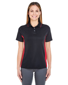 Black/ Red Ladies' Cool & Dry Sport 2-Tone Polo