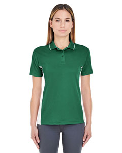 Forest Grn/ Wht Ladies' Cool & Dry Sport 2-Tone Polo
