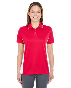 Red/ White Ladies' Cool & Dry Sport 2-Tone Polo