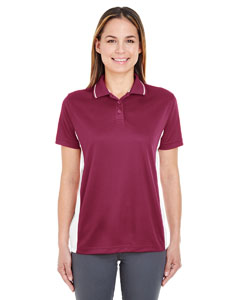 Maroon/ White Ladies' Cool & Dry Sport 2-Tone Polo
