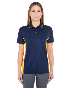 Navy/ Gold Ladies' Cool & Dry Sport 2-Tone Polo