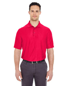 Red Men's Cool & Dry Elite Tonal Stripe Performance Polo