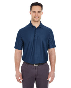 Navy Men's Cool & Dry Elite Tonal Stripe Performance Polo