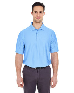 Carolina Blue Men's Cool & Dry Elite Tonal Stripe Performance Polo