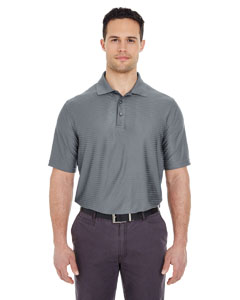 Charcoal Men's Cool & Dry Elite Tonal Stripe Performance Polo