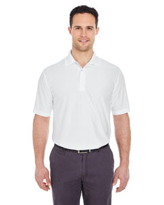 White Men's Cool & Dry Elite Performance Polo