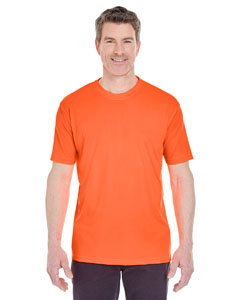 Bright Orange Men's Cool & Dry Sport Performance Interlock Tee