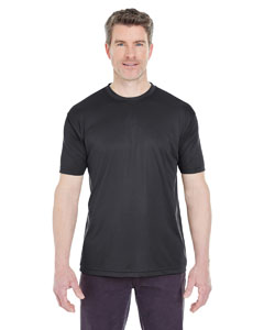 Black Men's Cool & Dry Sport Performance Interlock Tee