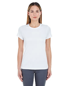 White Ladies' Cool & Dry Sport Performance Interlock Tee