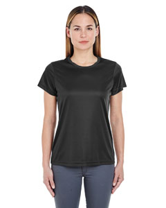 Black Ladies' Cool & Dry Sport Performance Interlock Tee