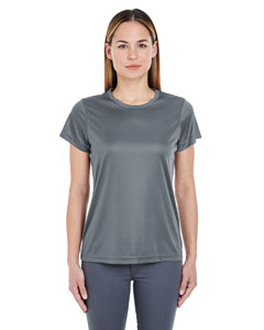 Charcoal Ladies' Cool & Dry Sport Performance Interlock Tee