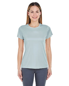 Grey Ladies' Cool & Dry Sport Performance Interlock Tee